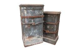Grand coffre-fort de vintage, coffre-fort. photographie stock