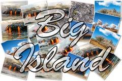Grand collage d'Hawaï d'île Photo libre de droits