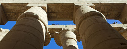 Grand columns in Karnak temple Stock Photography