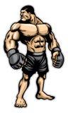 Grand combattant lourd de muscle Photographie stock