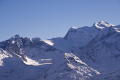 Grand Combin and glacier Royalty Free Stock Photo
