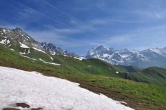 Grand combin massif, Italian Alps, Aosta Valley. Royalty Free Stock Photo