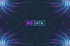 Grand complexe de données Communication abstraite graphique de fond Visualisation de contexte de perspective Réseau analytique Photographie stock