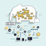 Grand concept de données illustration libre de droits
