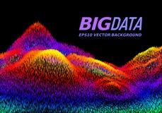 Grand concept de données Fond abstrait de vecteur Photo libre de droits