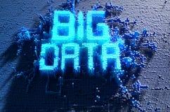 Grand concept de données de pixel Image libre de droits