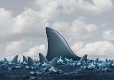 Grand concept de poissons illustration stock