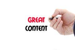 Grand concept satisfait des textes Images stock