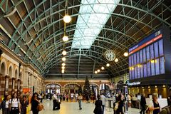Grand Concourse, Central Railway Station, Sydney, Australia. The arched roof in the historic Grand Concourse at Central Railway Station, Sydney Central Business royalty free stock photos