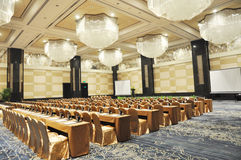 Grand conference hall. In a luxury hotel Stock Image