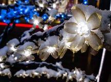 Grand conte de fées d'hiver de ville Images stock