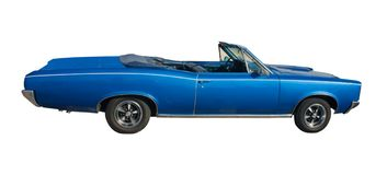 Grand convertible bleu Photos stock