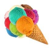 Grand cornet de crème glacée photos libres de droits