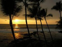 Grand coucher du soleil d'île Photographie stock libre de droits
