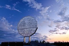 Grand coucher du soleil de nickel Images stock