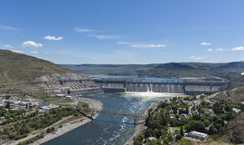 Grand Coulee Dam. Grand Coulee, WA USA - May 22nd, 2017. Grand Coulee Dam is a gravity dam on Columbia river in Eastern Washington built to produce hydroelectric Stock Photo