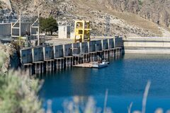 Free Grand Coulee Dam Washington USA - Power Station On Southern Side Stock Photos - 216967273