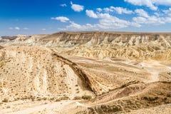 Grand cratère, désert du Néguev Image stock