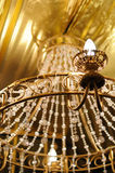 Grand crystal chandelier stock photo