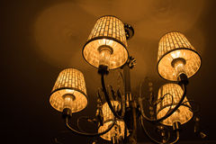 Grand crystal chandelier Royalty Free Stock Photography