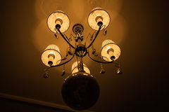 Grand crystal chandelier Royalty Free Stock Images