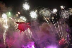 Grand défilé annuel de dragons Photos stock