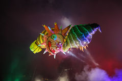 Grand défilé annuel de dragons Images stock