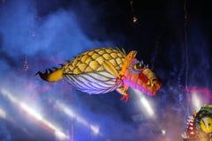 Grand défilé annuel de dragons Image libre de droits