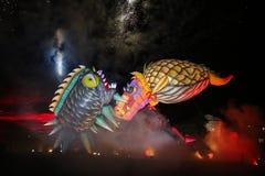 Grand défilé annuel de dragons Photo libre de droits