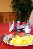 Grand déjeuner. images stock