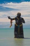 Grand démon de mer en mer photographie stock libre de droits