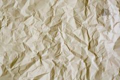 grand de papier froissé Photographie stock