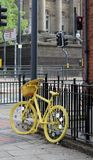 Grand Depart Yellow Bike Stock Photos