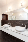 Grand design - double bathroom Royalty Free Stock Image