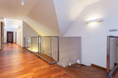Grand design - second floor. Of a modern house stock photography