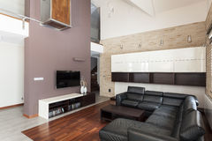 Grand design - Spacious living room Royalty Free Stock Images