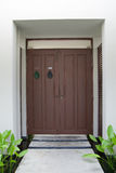 Grand design - wooden door Stock Images