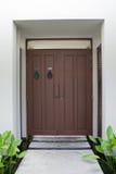Grand design - wooden door. Main entrance Stock Images