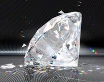 Grand diamant avec la réflexion rayée Photos libres de droits
