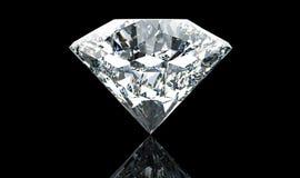 Grand diamant blanc d'isolement sur le fond noir illustration de vecteur