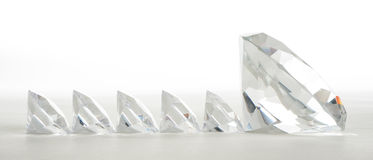 Grand diamant menant les petits Image libre de droits