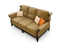 Grand divan contre le blanc illustration stock
