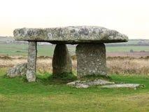 Grand dolmen en pierre dans les Cornouailles Photographie stock