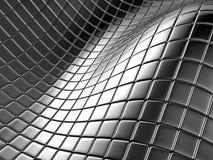 Grand dos argenté en aluminium abstrait Image stock