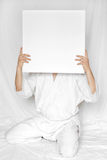 Grand dos blanc photo libre de droits