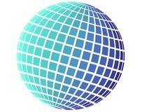 grand dos bleu de configuration de globe Illustration Libre de Droits