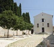 Grand dos catholique d'abbaye Image stock