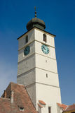 Grand dos central, Sibiu - Roumanie Image stock