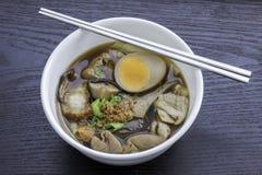 Grand dos chinois bouilli de pâtes Photographie stock libre de droits
