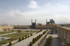 Grand dos d'Esfahan Photographie stock